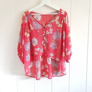 Sheer flowy cover up top